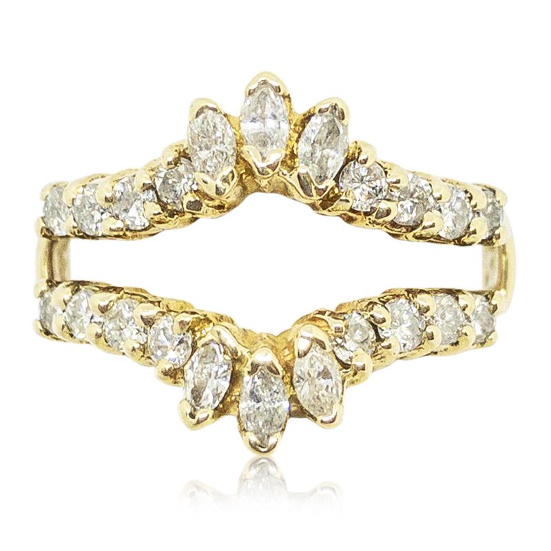 Marquise & Round Diamond Ring Insert