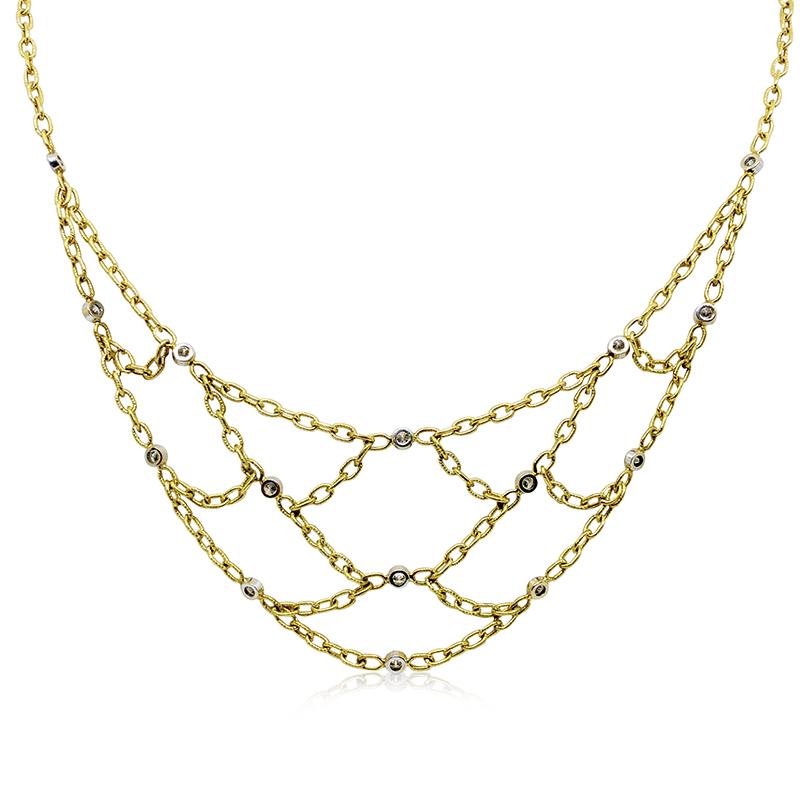 Diamond Bibb Necklace