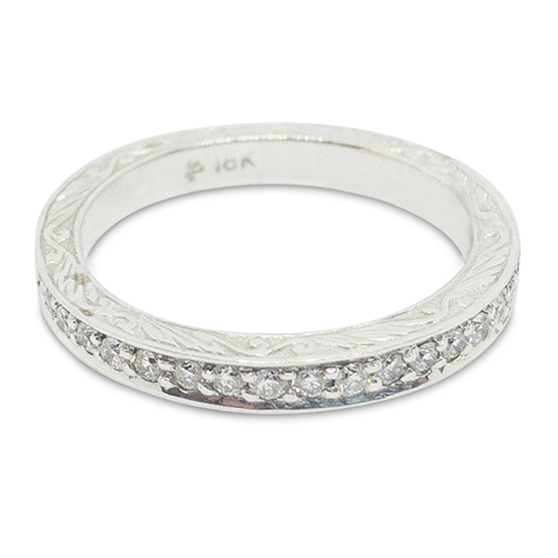 .50ctw. Engraved Eternity Band