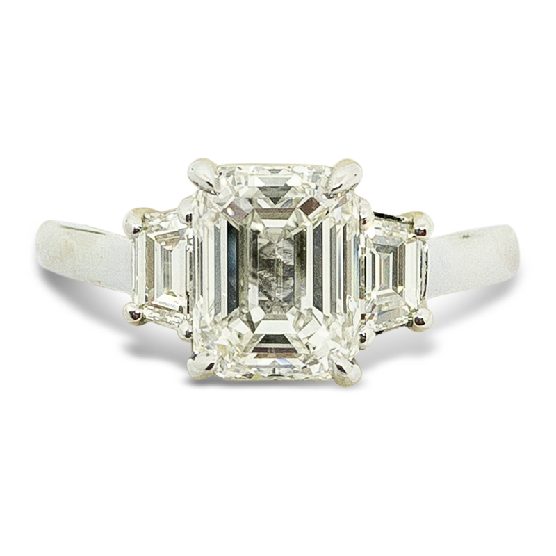 2.40ctw. Three Stone Engagement Ring