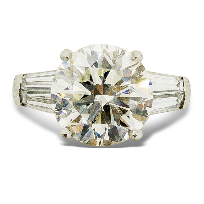 4.02ct. Round Brilliant Engagement Ring