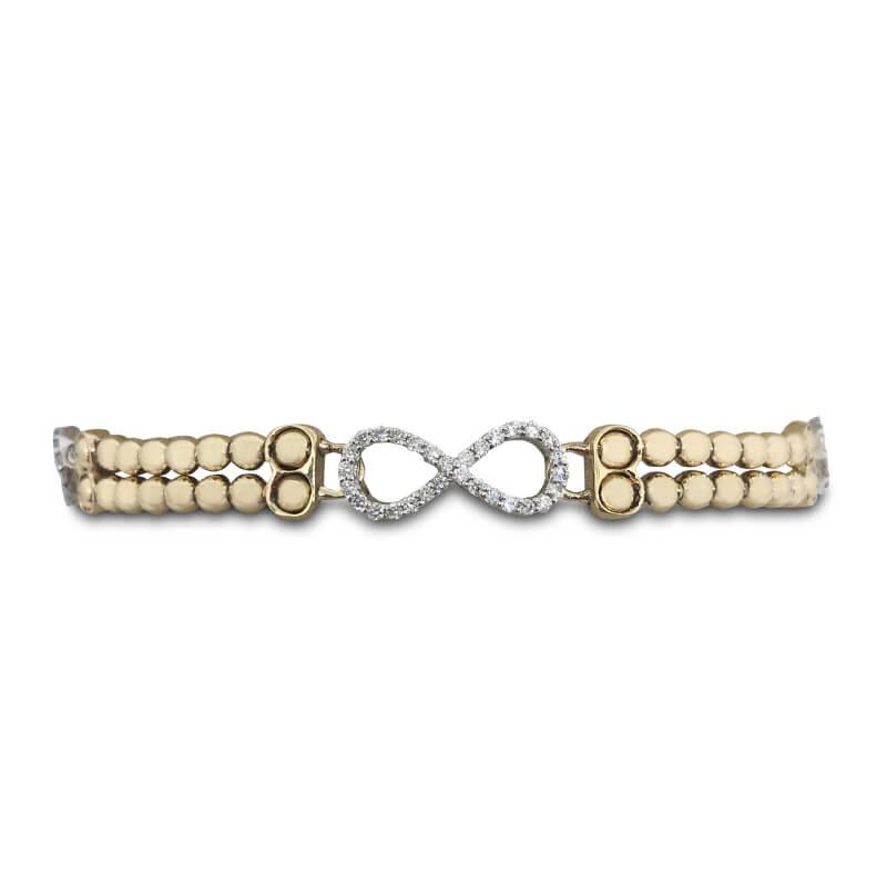 Infinity Diamond Stretch Bracelet