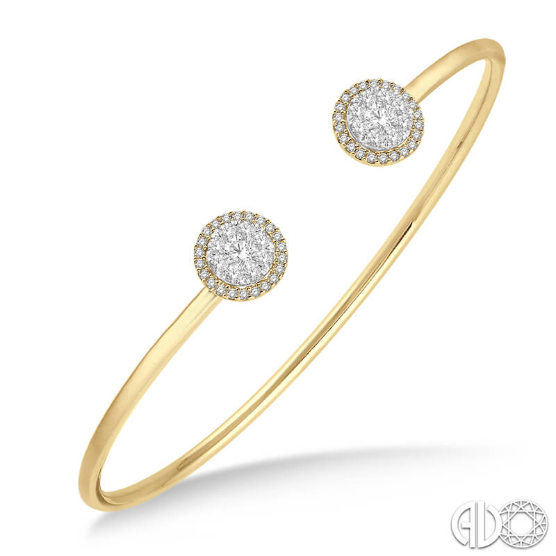 .65ct Narrow Cuff Bracelet