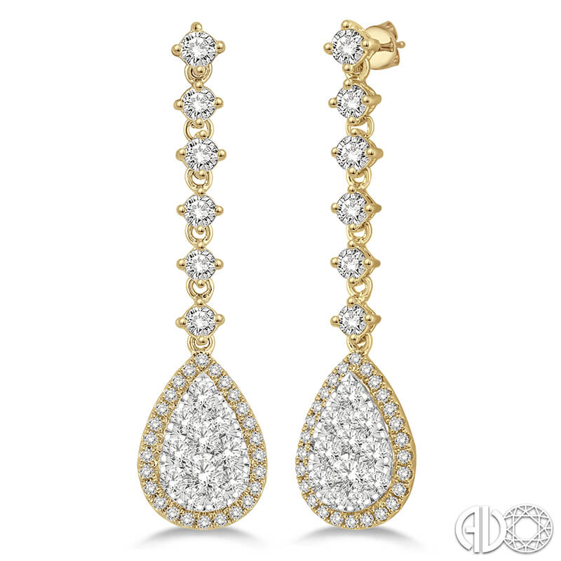 3.90ct. Diamond Drop Earrings