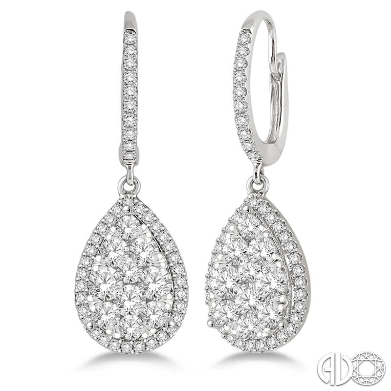 2.00ct. Drop Earrings- WG
