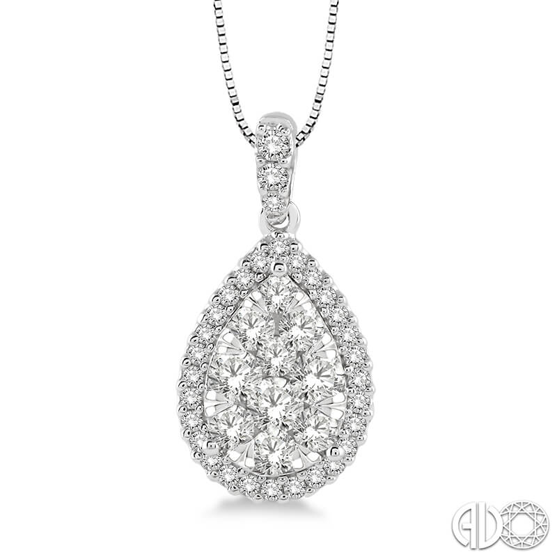 .50ct. Diamond Cluster Pendant