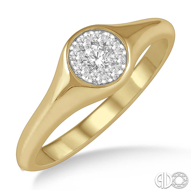 Two Tone Signet Ring