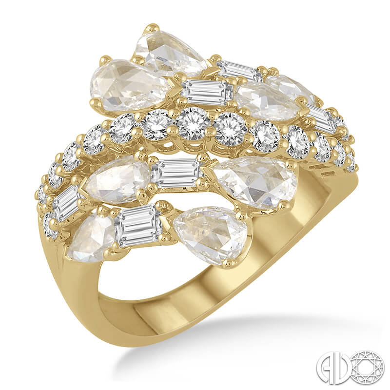 Multi Diamond Row Ring