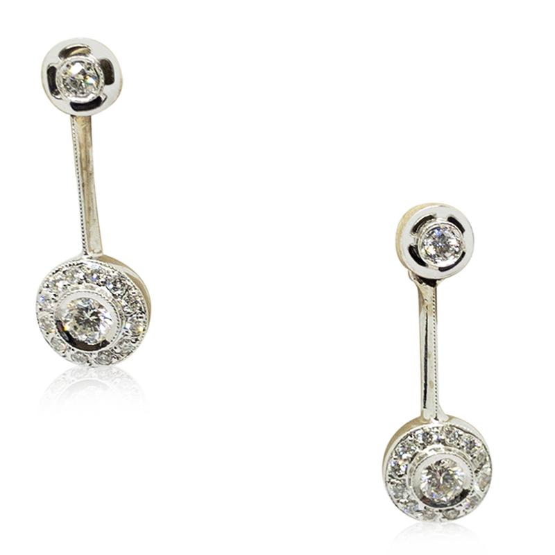 Dangle Estate Diamond Earrings