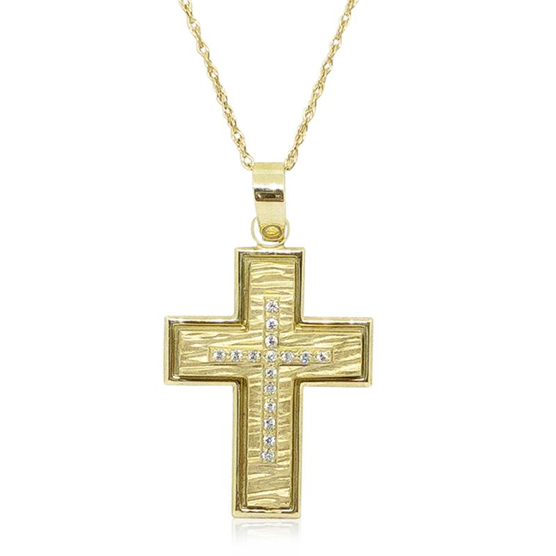 Textured Diamond Cross