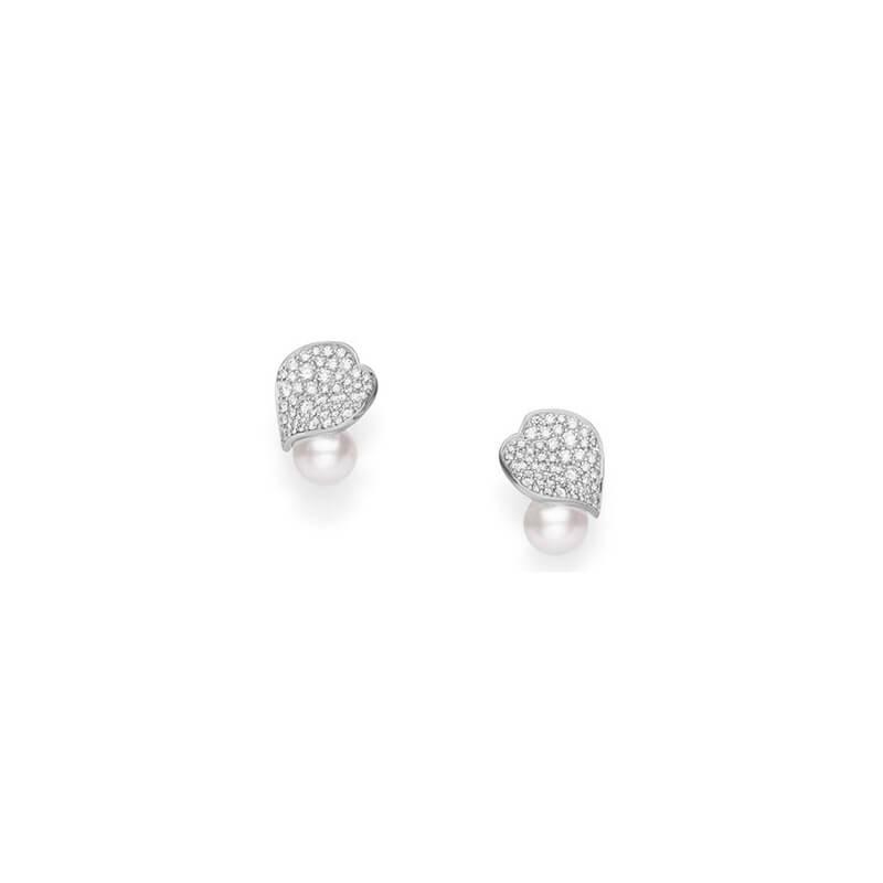 6.5mm Pearl Petal Earrings