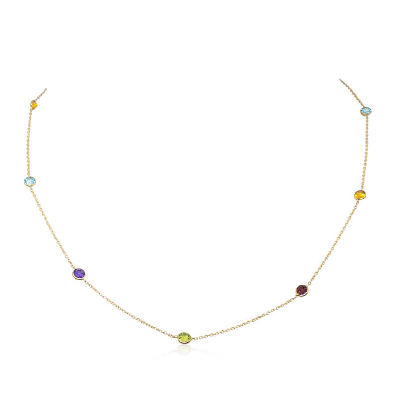 "18"" Colored Gemstone Necklace"