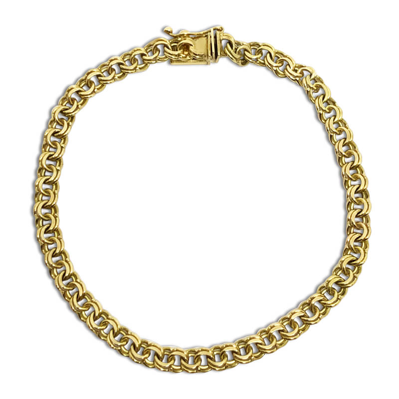 Double Link Chain Bracelet- Estate