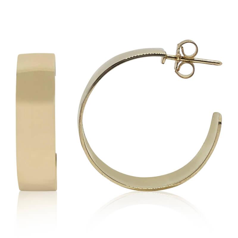 """1/4"""" Hoop Earrings- Estate"""