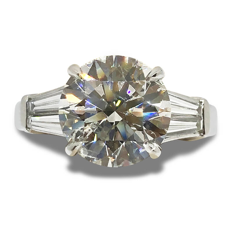 4.04ct. Round Engagement Ring