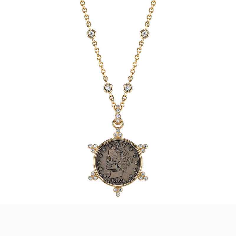 De Los Gorgeous Liz Coin Pendant