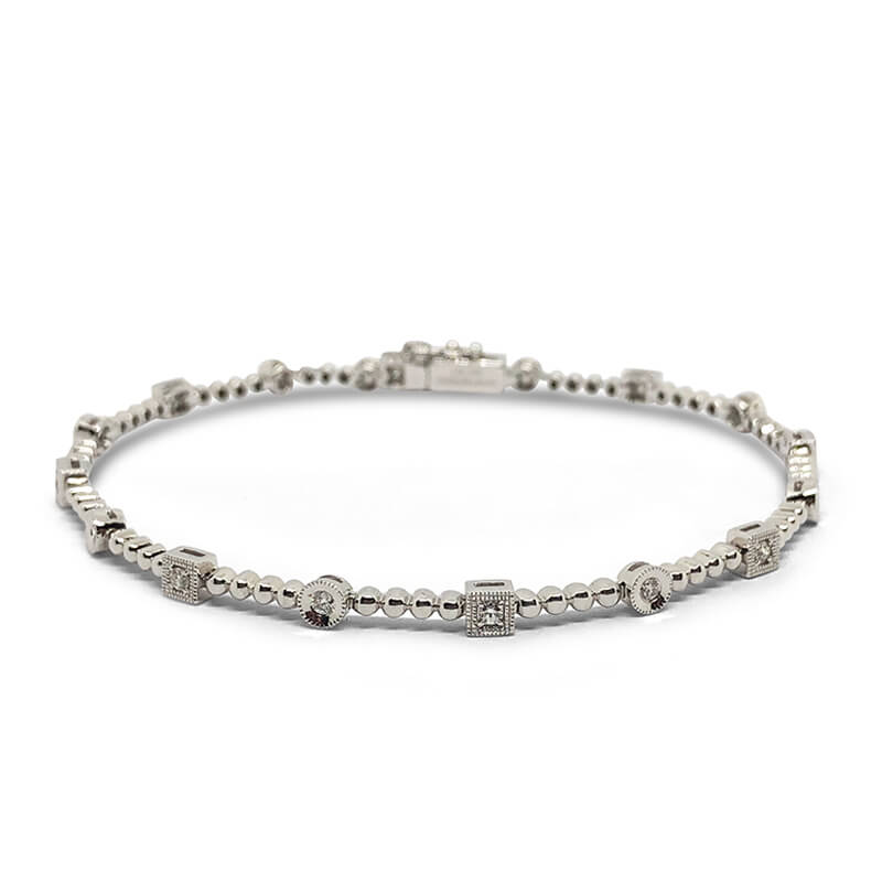 Beaded Diamond Bracelet .31ct.