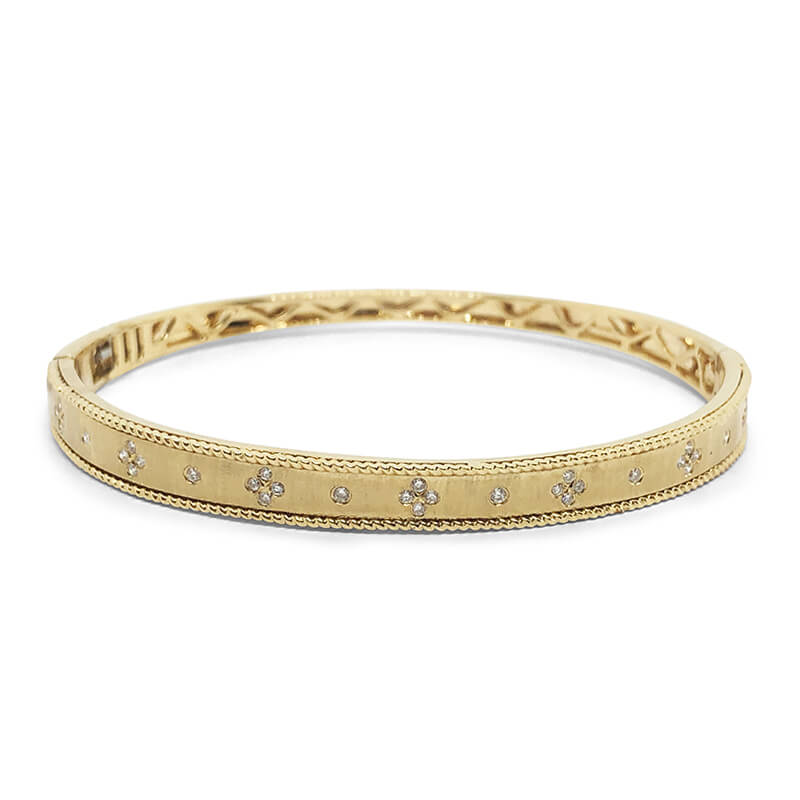 Diamond Brushed Bangle