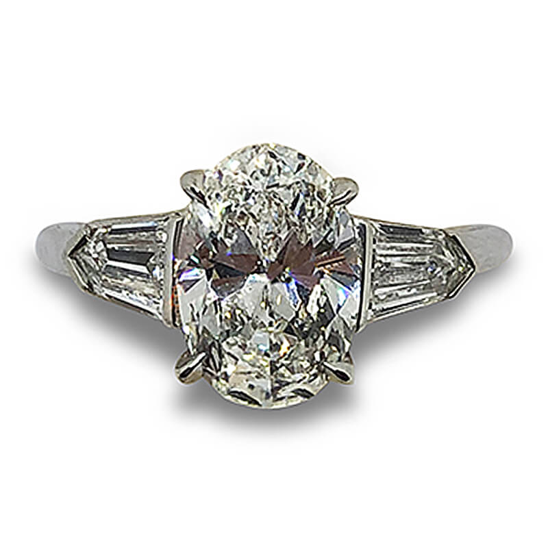 2.04ct. Oval Engagement Ring