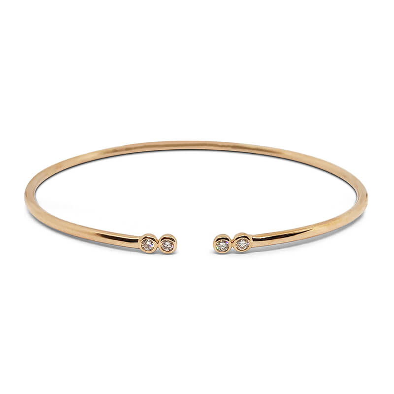 4 Diamond Rose Bangle