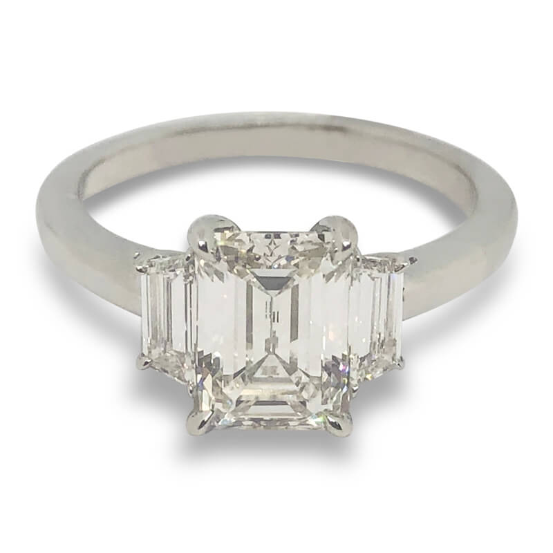 2.19ctw. Emerald Cut Ring