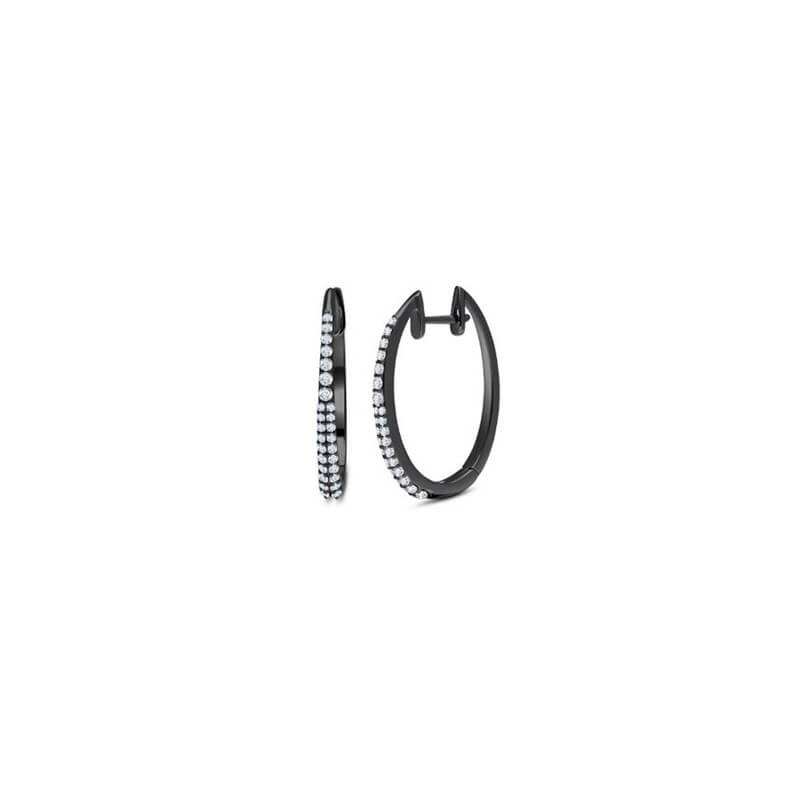 .60ctw. Black Rhodium Earrings