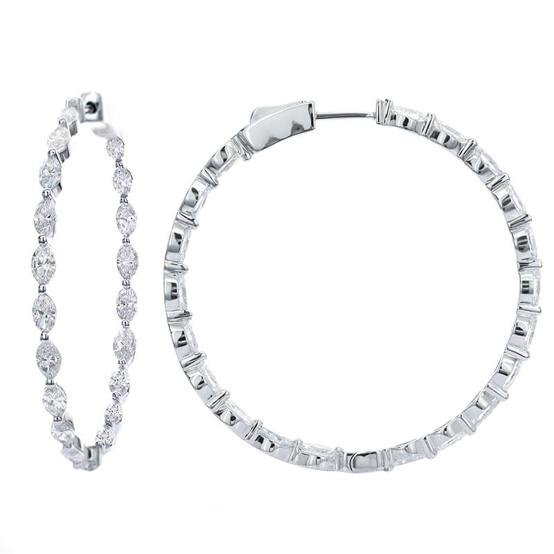 2.90ct. Marquise Hoops