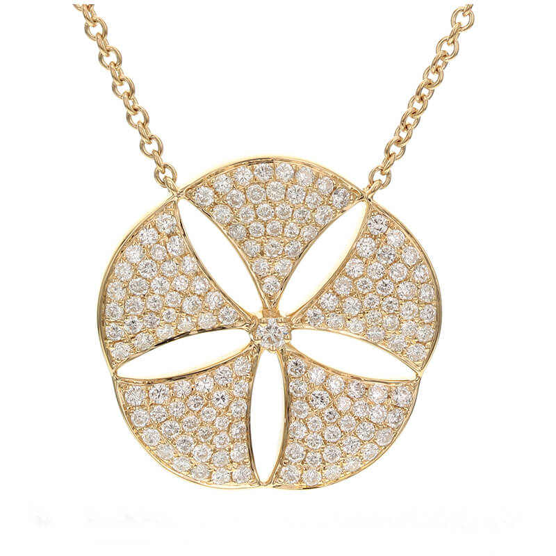 Diamond Sand Dollar Necklace