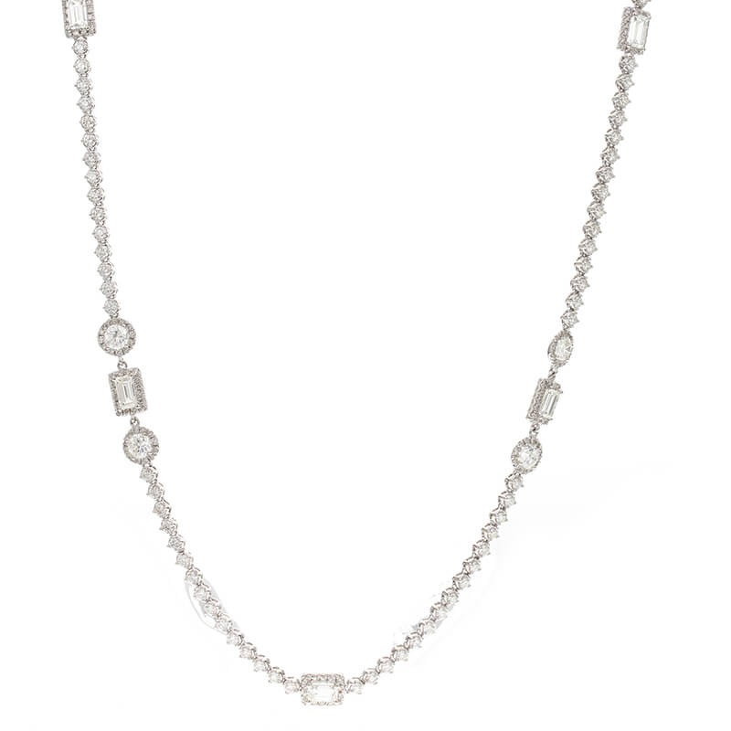 "25.5"" 10.87ct. Diamond Necklace"