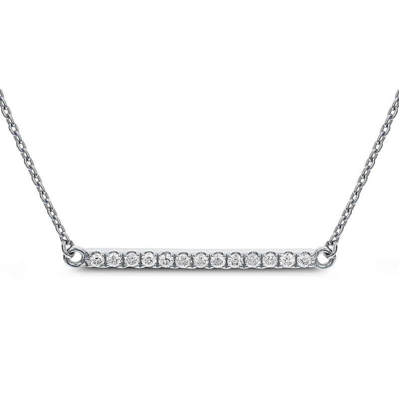 Diamond Bar Necklace .13ct.