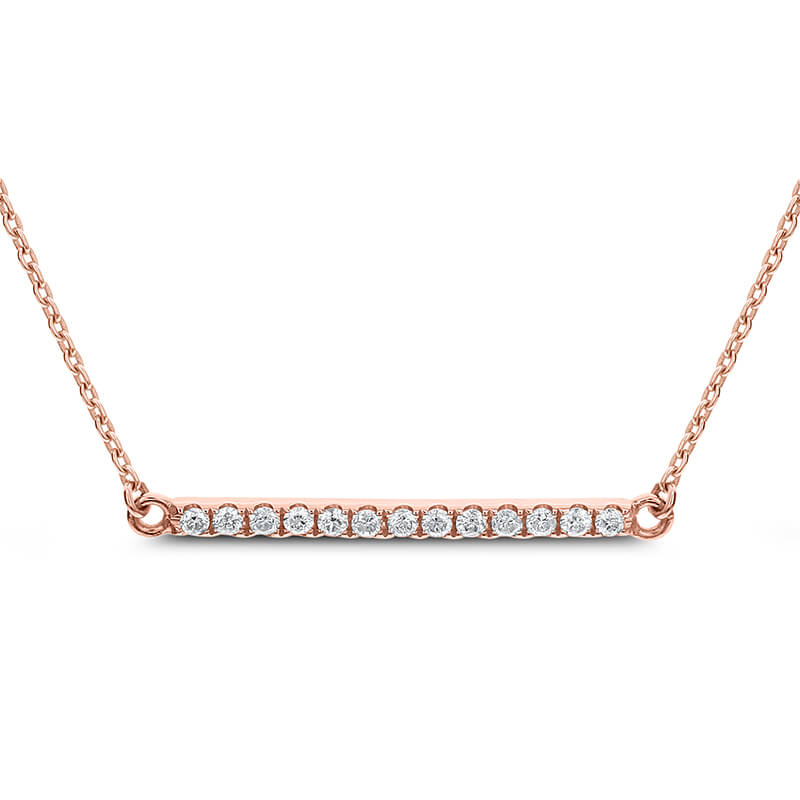 .13ct. Diamond Bar Necklace