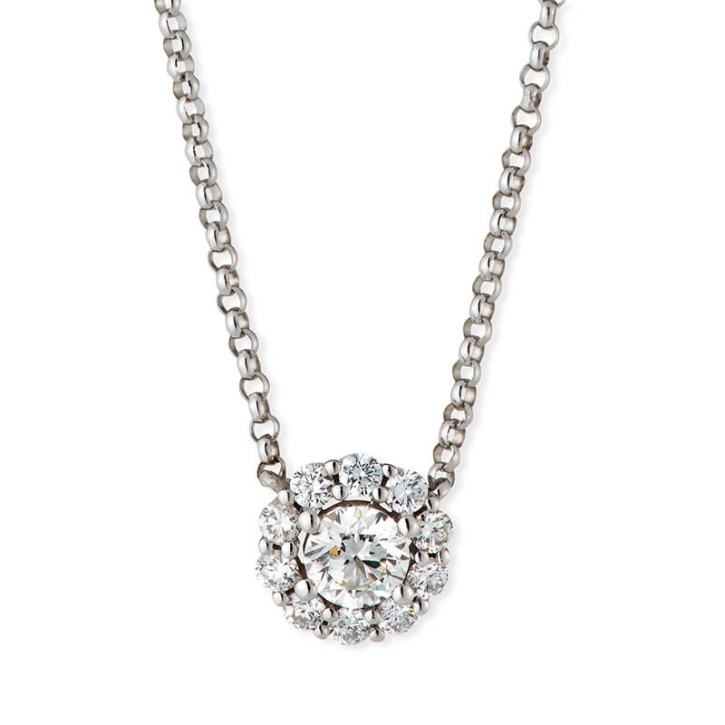 1.02ct. Diamond Halo Pendant