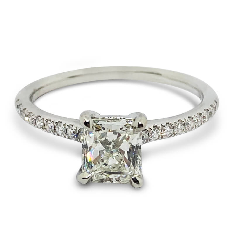 1.02ct. Radiant Solitaire Ring