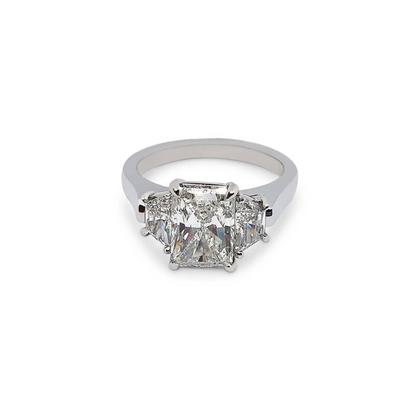 2.71ct. Radiant 3 Stone Ring