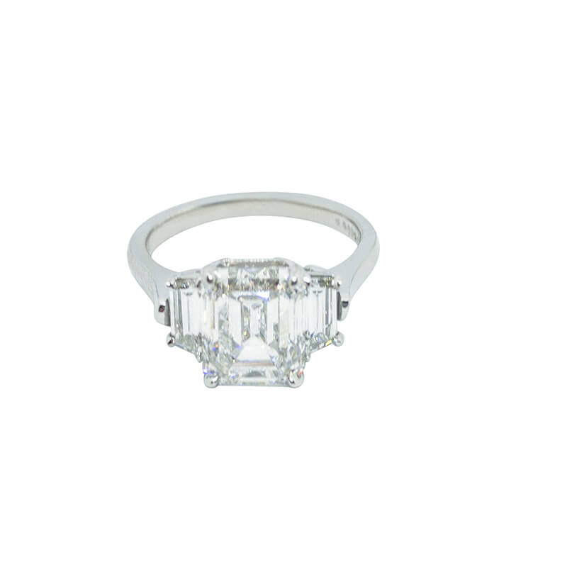3.57ct. Emerald Cut Ring