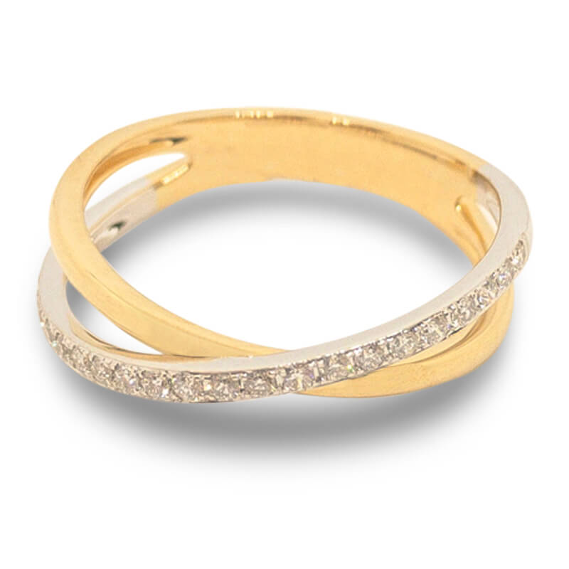 .16ct. Crossover Ring