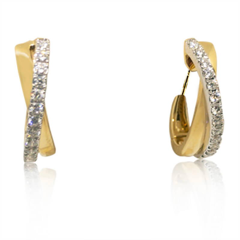 .21ct. Crossover Earrings