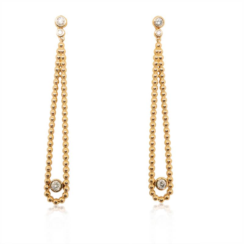 .22ct. Rose Gold Drop Earrings