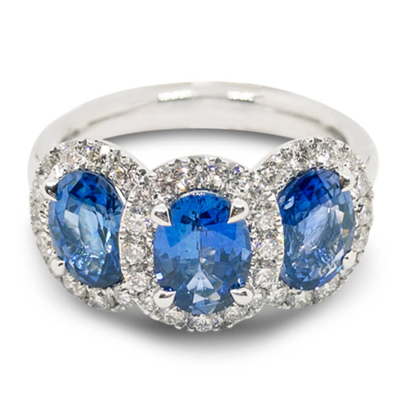 2.91ct. 3 Sapphire Ring