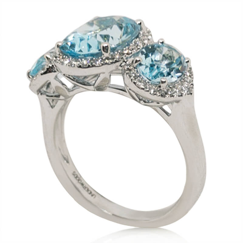 5.05ct. Blue Topaz Ring
