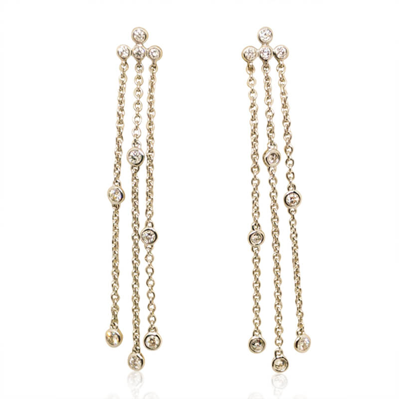 .32ct. Diamond Drop Chain Earrings
