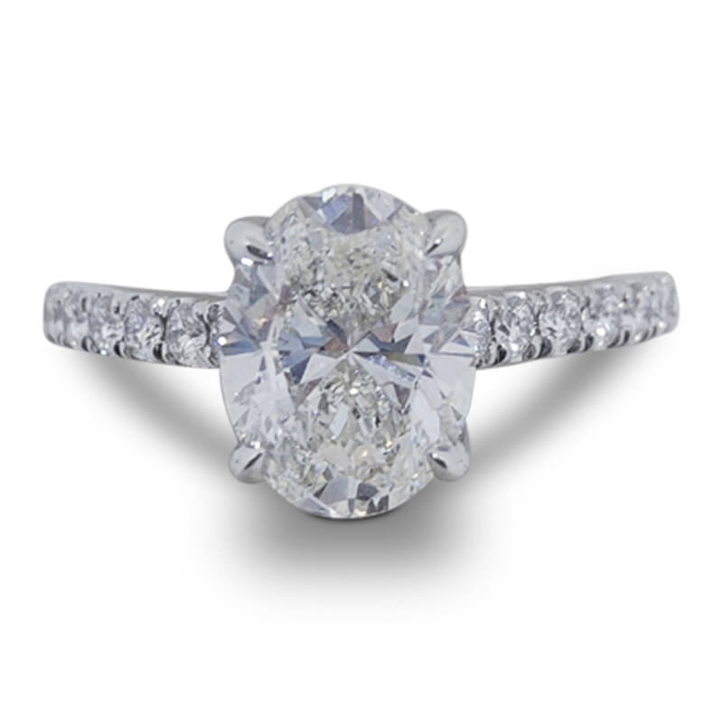 2.01ct. Oval Diamond Ring