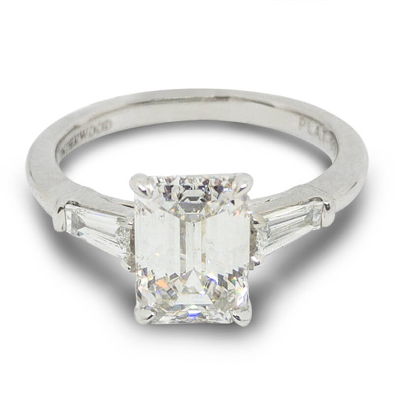 2.01ct. Emerald Cut Ring