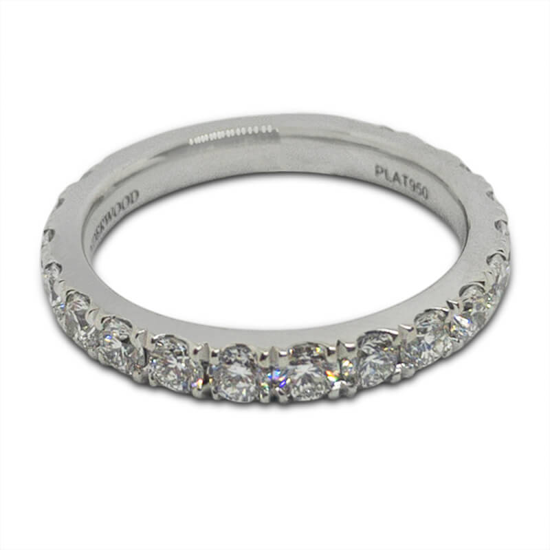 1.25ct. Platinum Band