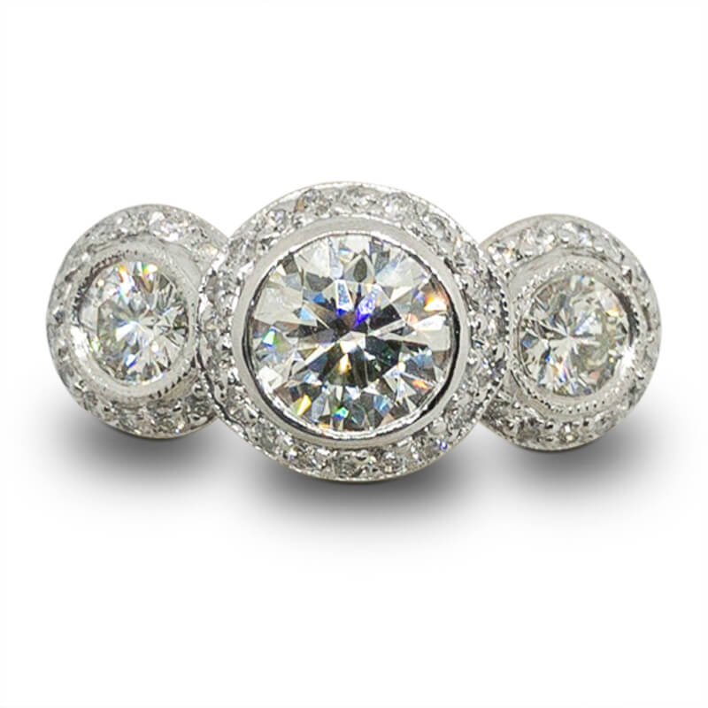 1.74ct. 3 Stone Ring