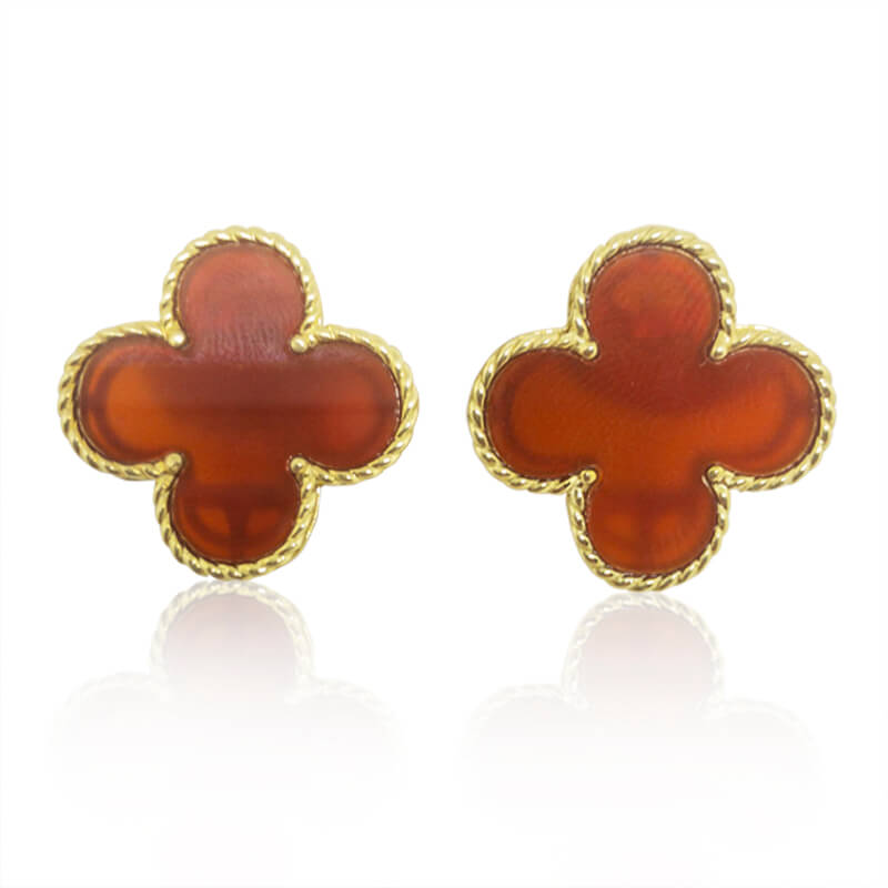 Red Onyx Earrings- Lg