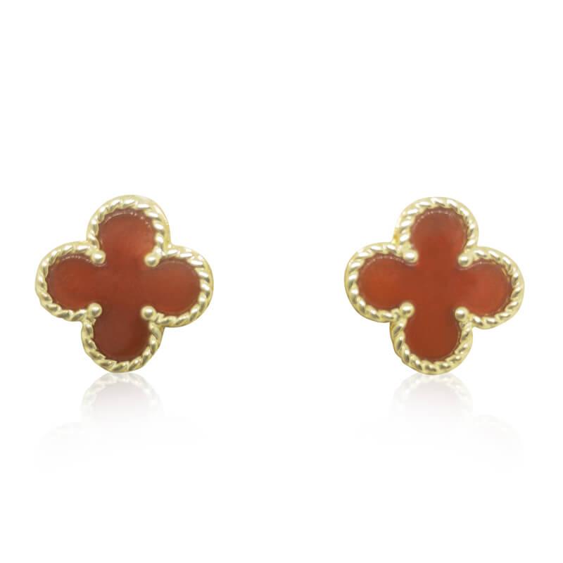 Red Onyx Stud Earrings