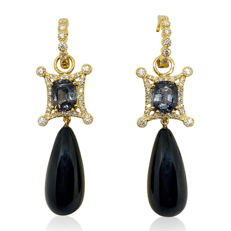 Wister Black Coral Earrings