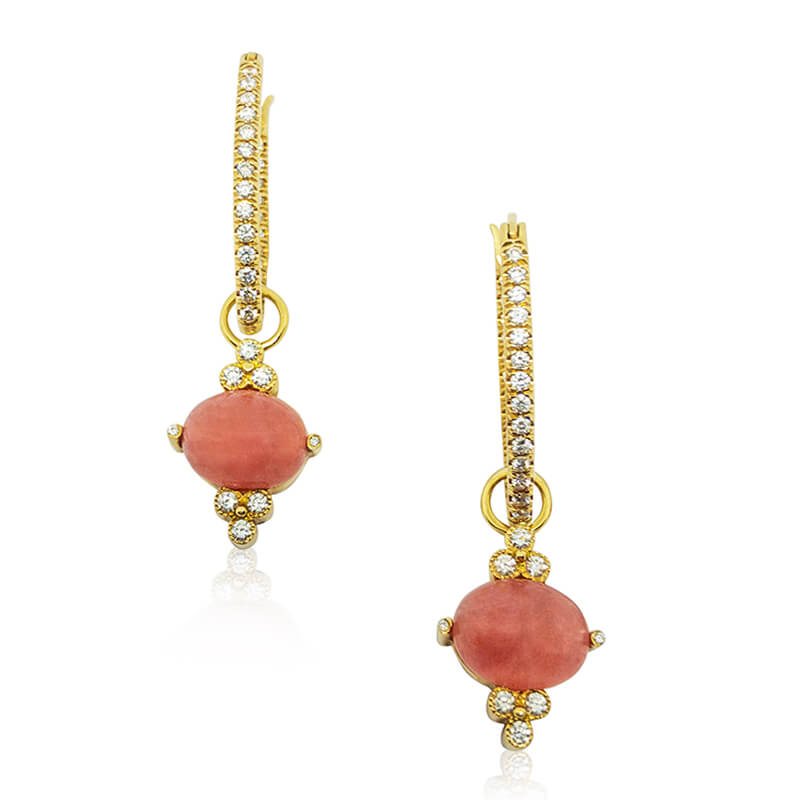 Rhodochrosite Earring Charms