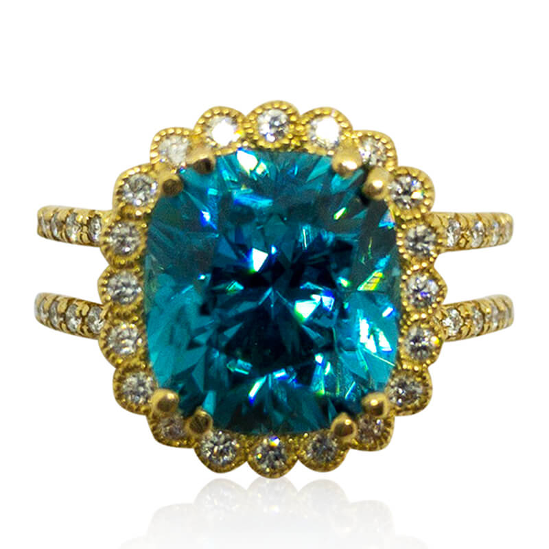 Emily Blue Zircon Ring